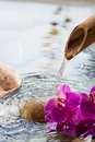 Natural perfection with water element relaxation Royalty Free Stock Images