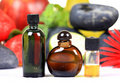 Natural perfume bottles Stock Photo
