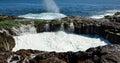 Natural pool in full effervescence, Bufadero La garita, Canary islands Royalty Free Stock Photo