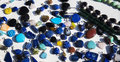 Natural precious gems all colors Stock Photos