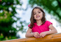 Natural pretty little girl portrait of a outdoor Royalty Free Stock Photo