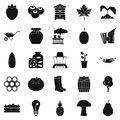 Natural product icons set, simple style Royalty Free Stock Photo