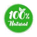 100% natural product label