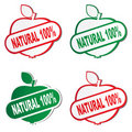 Natural product stickers Stock Image