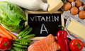 Natural Products rich in vitamin A. Healthy eating. Royalty Free Stock Photo