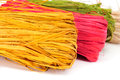 Natural raffia of different colors Royalty Free Stock Photo
