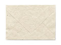 Natural recycled nepalese paper envelope isolated on white with clipping path parchment texture Stock Photos