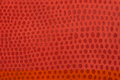 Natural red leather background closeup Stock Photo