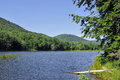 Natural reflections on colgate lake at catskill mountains ny Royalty Free Stock Images