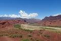 Natural reserve quebrada de las conchas en argentina red colour rock landscape south america dramatic beautiful scenery cafayate Royalty Free Stock Images