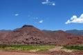Natural reserve quebrada de las conchas en argentina red colour rock landscape south america dramatic beautiful scenery cafayate Stock Image