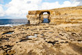Natural rock arch Azure Window, Gozo Stock Images