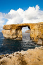 Natural rock arch Azure Window, Gozo Stock Image