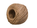 Natural rope skein isolated on the white Stock Image