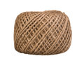 Natural rope skein isolated on the white Royalty Free Stock Photos