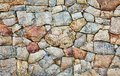 Natural rough stone wall - texture Royalty Free Stock Photo