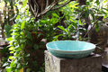 Natural sinks in the garden Stock Image