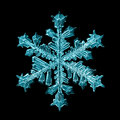 Natural snowflake macro naturals crystal piece of ice Royalty Free Stock Images