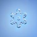 Natural snowflake macro naturals crystal piece of ice Stock Photos