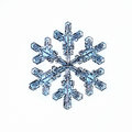 Natural snowflake macro naturals crystal piece of ice Stock Images