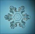 Natural snowflake macro naturals crystal piece of ice Stock Photo