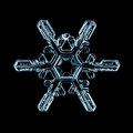 Natural snowflake macro naturals crystal piece of ice Royalty Free Stock Image