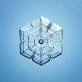 Natural snowflake macro naturals snow Royalty Free Stock Image