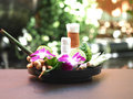 Natural Spa Ingredients for alternative medicine and relaxation Thai Spa theme with si Royalty Free Stock Photo