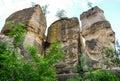 Natural stone pillars Royalty Free Stock Photo