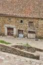 Natural stone slate village. La Hiruela. Madrid, Spain