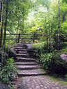 Natural stone stairs Stock Photos