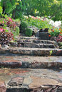 Natural stone stairs Royalty Free Stock Photo