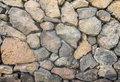 Natural Stone Wall made from Volcano Stone Texture for Interior Design Royalty Free Stock Photo