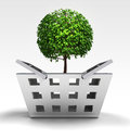 Natural tree as trade merchandise illustration Royalty Free Stock Images