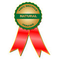 Natural verified medal (vector) Royalty Free Stock Photography