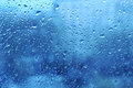Natural water drops on window glass Stock Photography