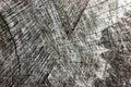 Natural Weathered Grey Tree Stump Cut Texture, Large Detailed Old Aged Gray Lumber Background Horizontal Macro Closeup, Dark Black Royalty Free Stock Photo