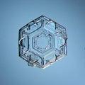 Natural white crystal snowflake macro natura ice l Royalty Free Stock Photography
