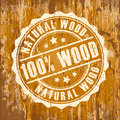 Natural wood icon Royalty Free Stock Photo