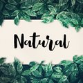 Natural word with green leaf.friendly,eco environment,concept