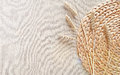 Natural woven straw background Royalty Free Stock Photo