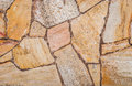 Natural yellow pavement stone texture for floor, wall or path. Royalty Free Stock Photo