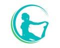Natural Yoga Pilates Logo Royalty Free Stock Photo