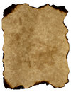 Naturally burned edges old paper parchment Royalty Free Stock Image