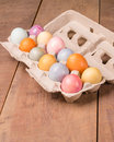 Naturally dyed Easter eggs for holiday Royalty Free Stock Photo