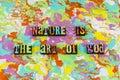 Nature art god beauty love Royalty Free Stock Photo