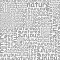 Nature background made of words the a vector illustration Stock Photos