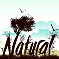 Nature background with nautre graphic Royalty Free Stock Photo