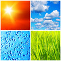 Nature backgrounds collage Stock Photo