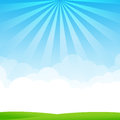 Nature Blue Sky Sunburst Copy ...